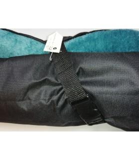 Coussins pour chien ou chiot Coussin pour chien de voyage turquoise et noir 62*52 cm Chez Anilou 23,00€