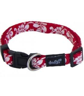 Colliers pour chien ou chiot Collier chien nylon Tahiti rouge Doogy 10,00€