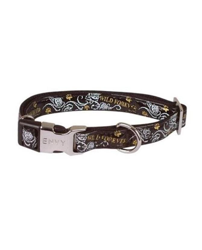 Colliers pour chien ou chiot Collier chien réglable Envy Forever noir Doogy 11,00€