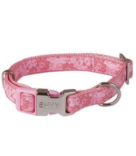 Collier chien réglable Envy Flora rose