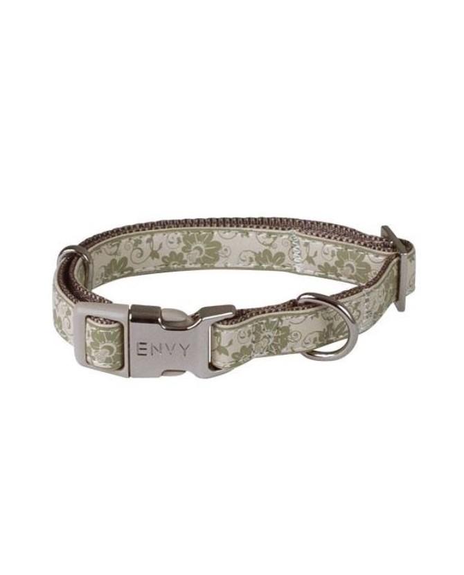 Colliers pour chien ou chiot Collier chien réglable Envy Flora vert Doogy 11,00€