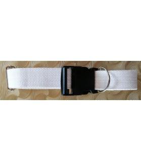 Colliers nylon Collier chien - réglable - blanc - coeur d'étoiles Chez Anilou 19,00€