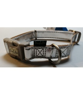 Colliers nylon collier chien argenté DogLife MacLeather  14,00€