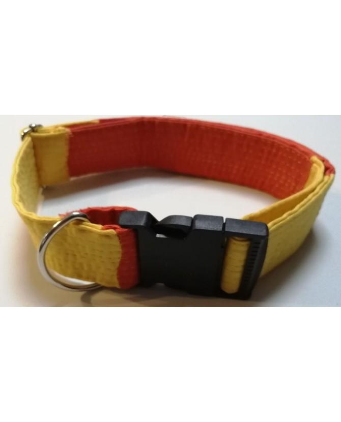 Colliers nylon Collier Chien réglable orange et jaune Sankouka Chez Anilou 23,00€
