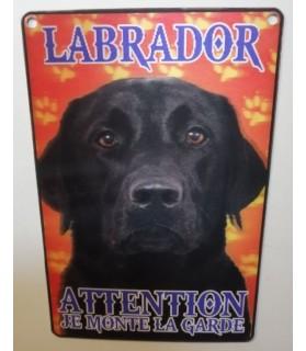 Pancarte Labrador Pancarte Labrador - 3D - attention au chien - noir  6,00€