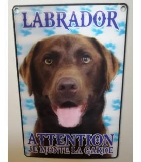 Pancarte Labrador Pancarte Labrador - 3D - attention au chien - chocolat  6,00€