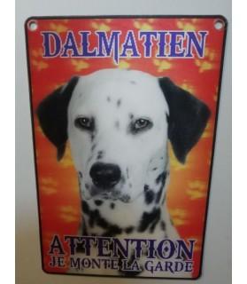 Pancarte Dalmatien Pancarte en 3D avec Dalmatien attention au chien  6,00€
