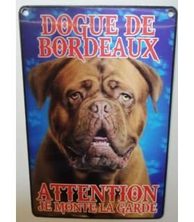 pancartes de garde Pancarte en 3D avec Dogue de Bordeaux attention au chien  6,00€