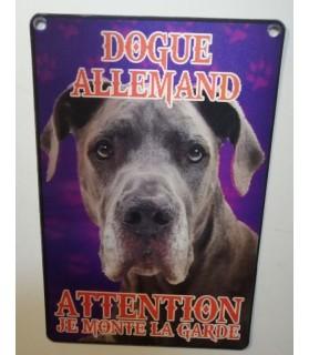 pancartes de garde Pancarte en 3D avec Dogue allemand attention au chien  6,00€