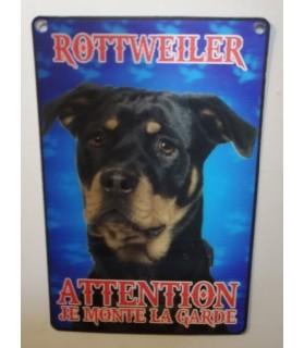 pancartes de garde Pancarte en 3D avec Rottweiler attention au chien  6,00€