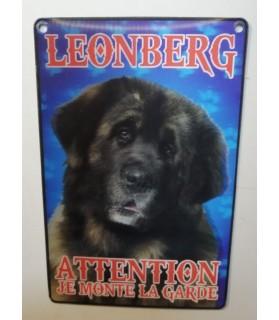 pancartes de garde Pancarte en 3D avec Leonberg attention au chien  6,00€