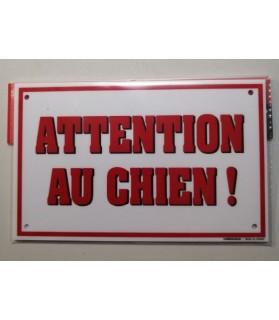 pancartes de garde Pancarte attention au chien, simple mais efficace ! Martin Sellier 6,00€
