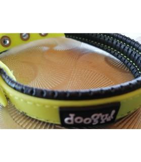 Colliers simili et cuir Collier chien fluo jaune Doogy Classic Doogy 7,00€
