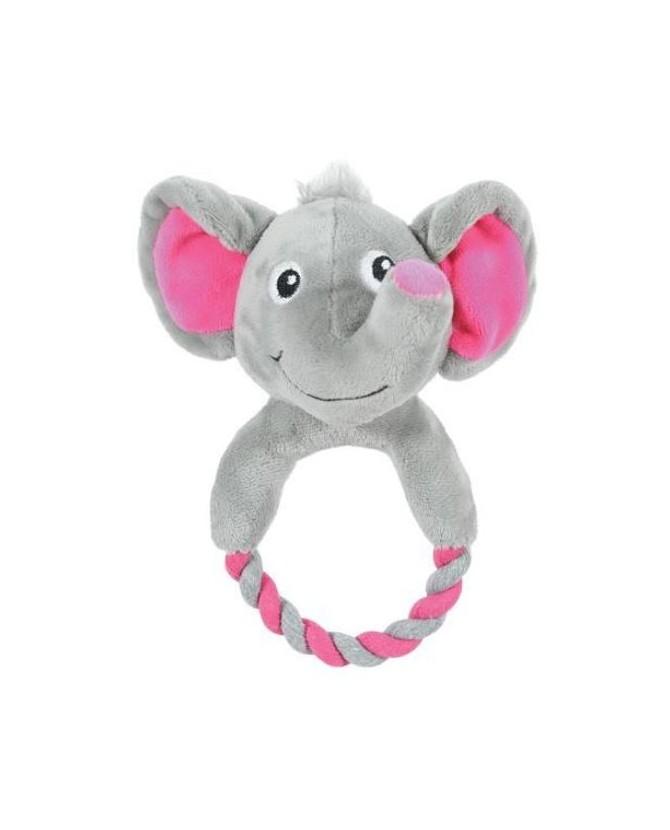Peluches pour chien jouet chien peluche et corde élephant gris Zolux 10,00€