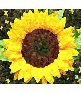 Peintures fleurs au naturel Tableau Le tournesol Porte Bonheur Chez Anilou 15,00€