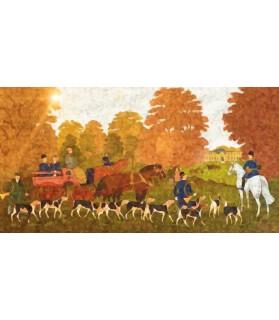 Peintures thème chasse Poster chasse à courre au chateau Chez Anilou 17,00€