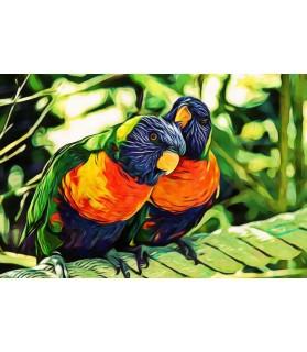Poster animalier ChezAnilou Tableau Les perroquets Chez Anilou 15,00€