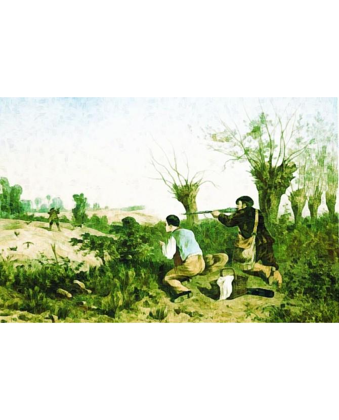 Peintures thème chasse Tableau Les chasseurs Chez Anilou 15,00€