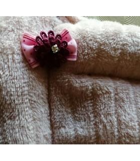 Coussins pour chien ou chiot Coussin chien 3 boudins réversible rose et bordeaux 95 x 63 Chez Anilou 24,00€
