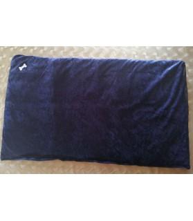 Coussins pour chien ou chiot coussin chien réversible bleu nuit 98 x 56 Chez Anilou 16,00€
