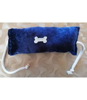 jouets canins sonores jouet chien boudin sonore corde bleu nuit 22 cm Chez Anilou 7,00€