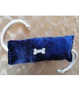 Peluches pour chien jouet chien boudin sonore corde bleu nuit 22 cm Chez Anilou 7,00€