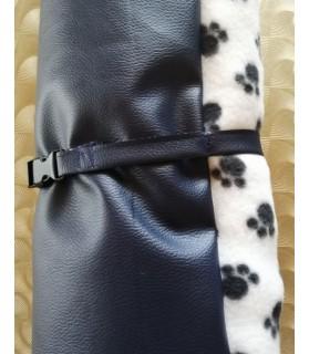 Coussins pour chien ou chiot coussin chien réversible 2 boudins bleu XL Chez Anilou 36,00€