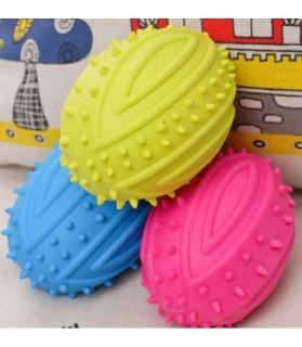 balles pour chien jouet chien - Balle ovale sonore bleu  5,00€