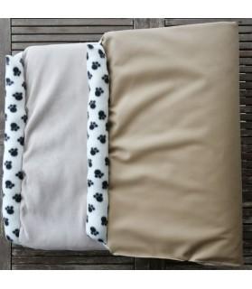 Coussins pour chien ou chiot coussin pour chien beige dehoussable 130 x 70 Chez Anilou 38,00€