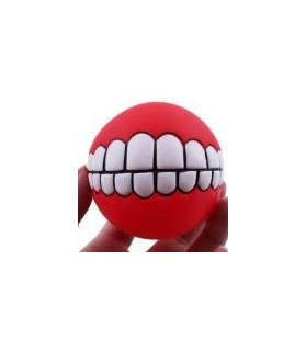 jouets canins sonores Balle motif dents  6,00€