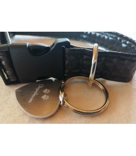 Colliers simili et cuir collier chien Calypso noir - dim 37-65 cm Chez Anilou 12,00€