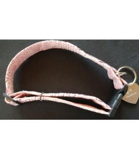 Colliers simili et cuir Collier chien Croco rose - T32-53 cm Chez Anilou 12,00€