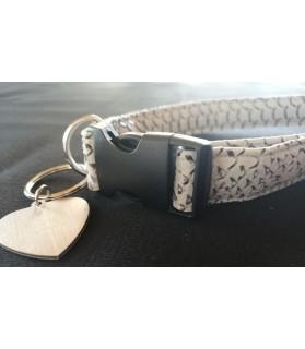 Colliers simili et cuir Collier chien Croco gris - T42-70 cm Chez Anilou 12,00€