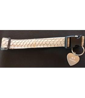 Colliers simili et cuir Collier chien Croco beige - T42-70 cm Chez Anilou 12,00€
