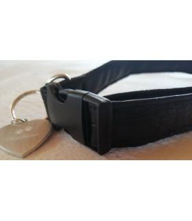 Colliers simili et cuir Collier chien Croco noir- T42-70 cm Chez Anilou 12,00€