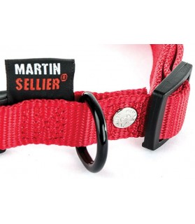 Colliers nylon Collier Nylon rouge classique T40 - 55 cm Martin Sellier 11,00€