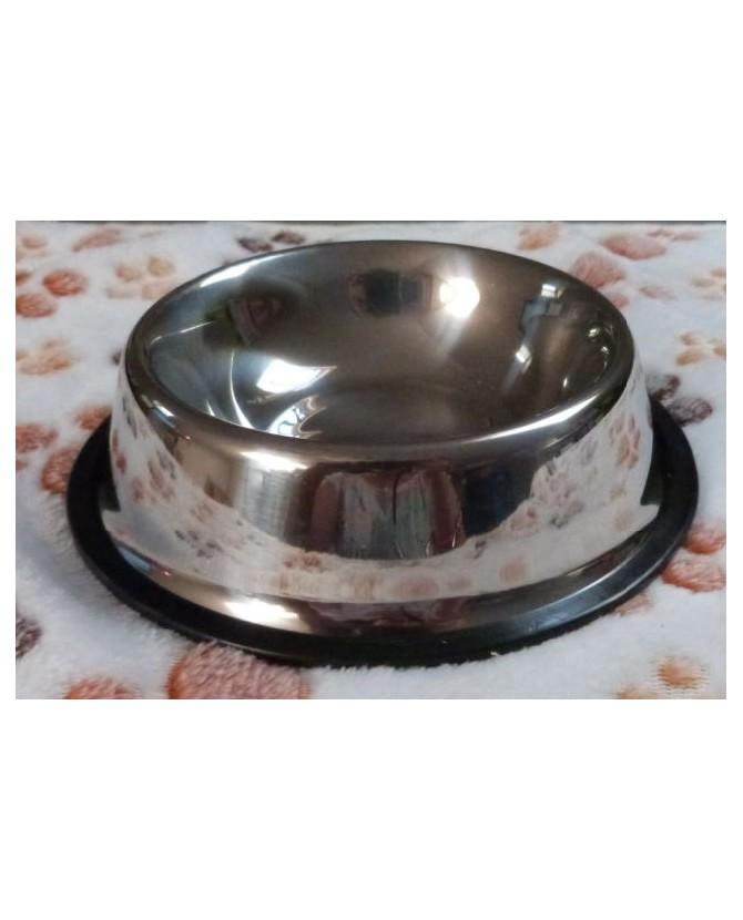 Gamelles Inox pour chien ou chiot Gamelle Inox avec anti-dérapant - T 26 cm Martin Sellier 12,00€