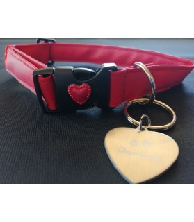 Collier chien Coeur Rouge...