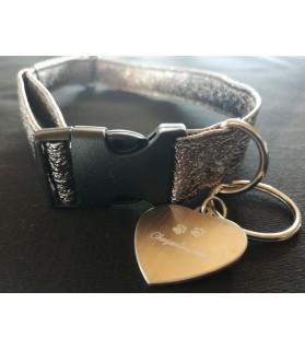 Colliers simili et cuir Collier chien Paillette de Star Bronze T45-75 Chez Anilou 11,00€
