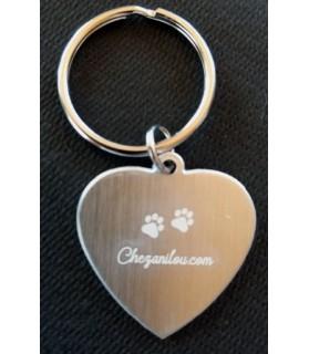 Accessoires de mode Médaille à graver collier chien forme coeur Chez Anilou 5,00€