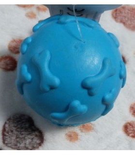 jouets canins sonores Balle os bleu pour chien  6,00€