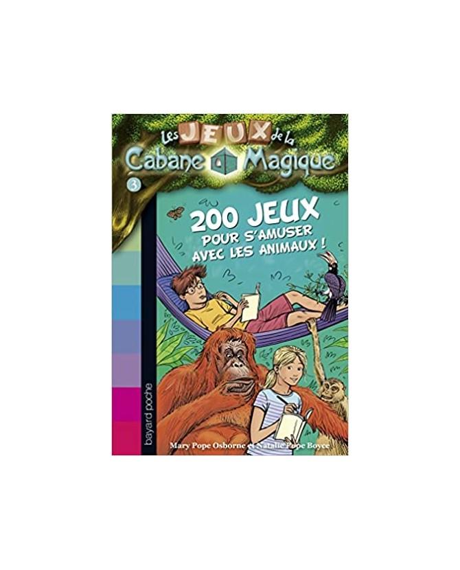 librairie animaux Les jeux de la cabane magique - 200 jeux sur les animaux pour s'amuser  6,00€