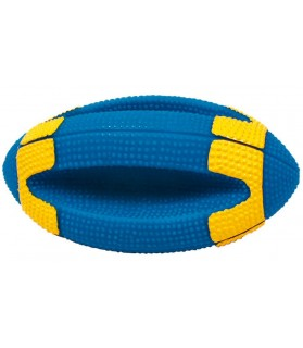 jouets canins sonores Jouet chien ballon rugby sonore bleu et jaune Martin Sellier 9,00 €