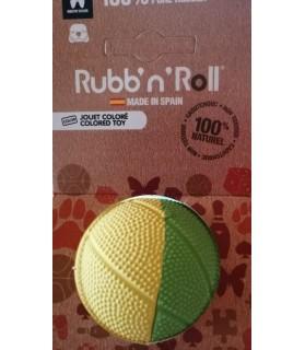 balles pour chien jouet balle dure pour chien Rubb'n orange et vert Martin Sellier 11,00€