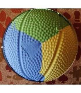 balles pour chien jouet balle dure pour chien Rubb'n jaune, vert et bleu Martin Sellier 11,00€