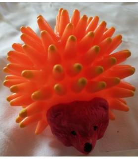 jouet chien hérisson orange