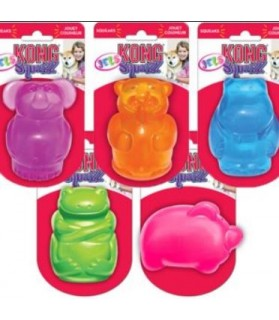 jouets canins sonores KONG Squeezz animaux KONG 6,00€