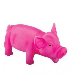 jouet chien cochon rose
