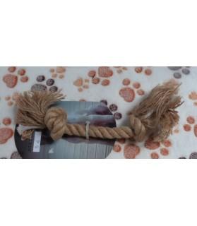 Jouets canins durs Jouet chien corde brute 2 noeuds  5,00€