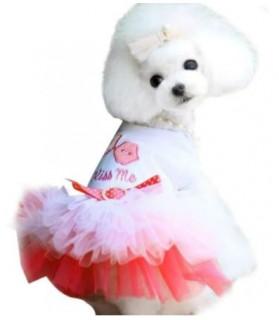 "Robe chien rose ""Kiss Me"""